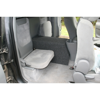 toyota tacoma extended cab   console subwoofer box
