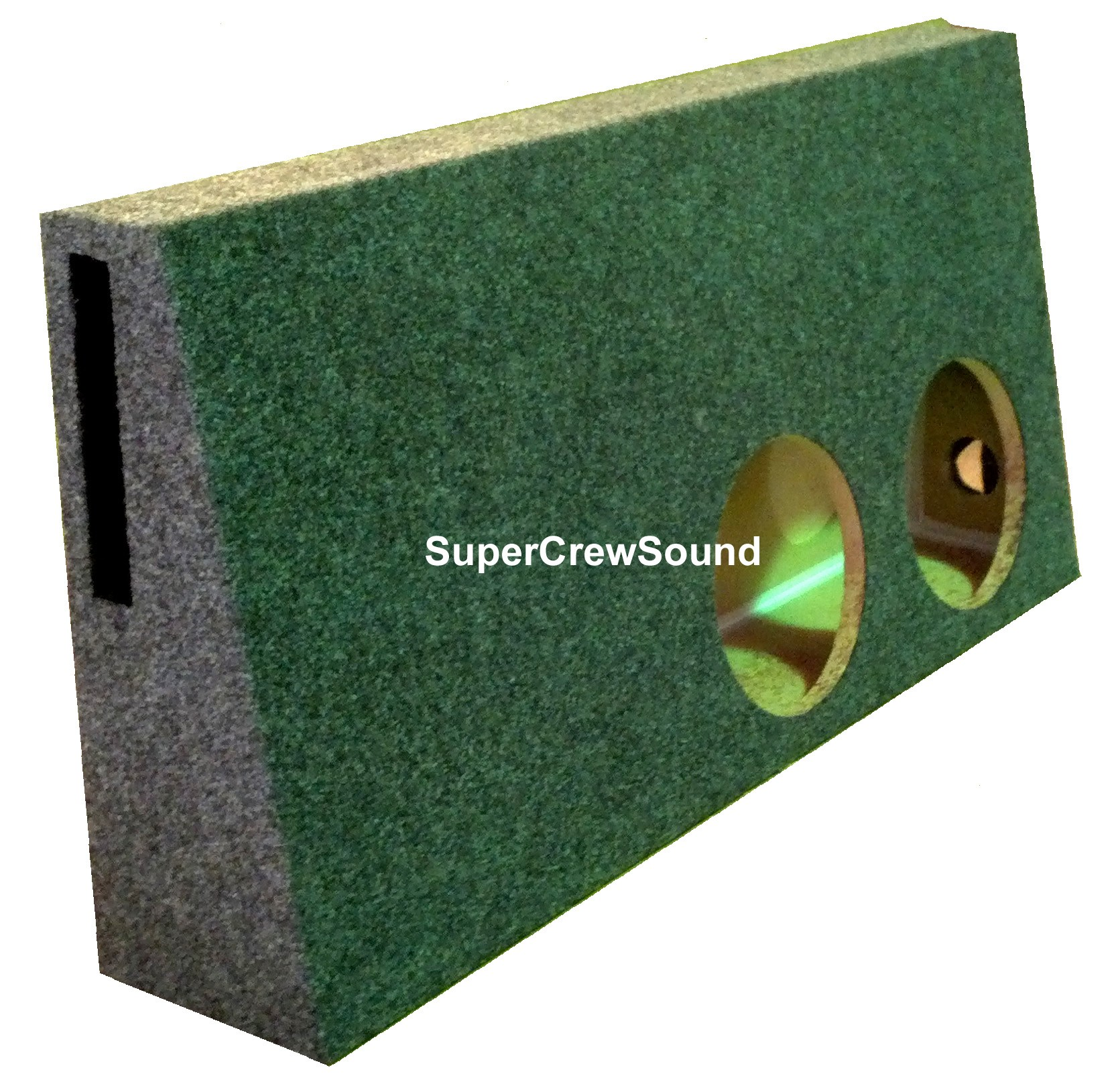 Ford f 250 f 350 supercrew cab 99 07 ported dual bts subwoofer box