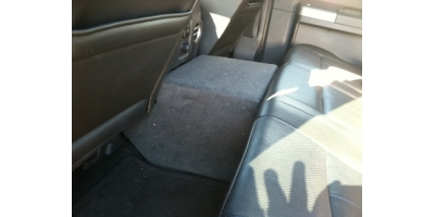 Ford F 250 F 350 Supercrew Cab 11 13 Console Subwoofer Box