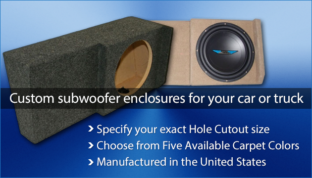 PORTED VENTED Subwoofer Sub Box for 2010 Ford F150 Supercrew Crew Cab  2-12/""